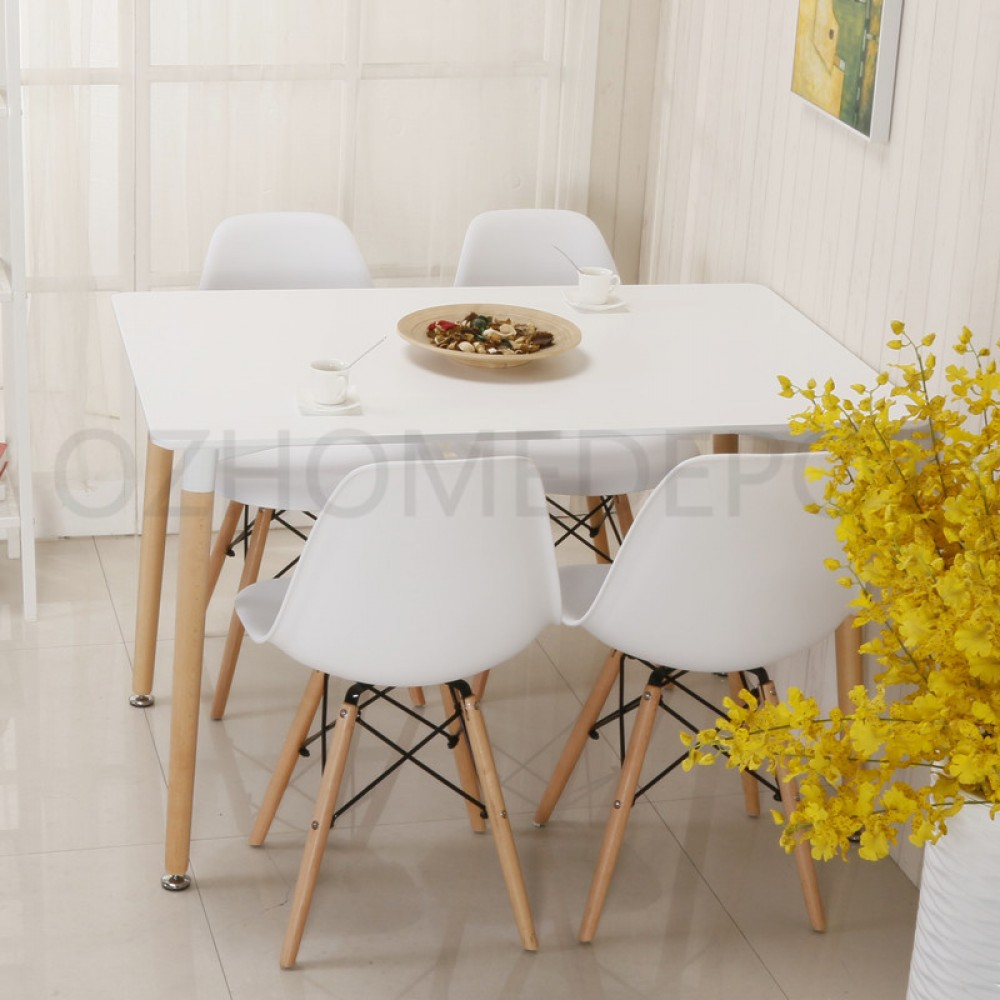 Diamonds Brand New Replica Eames DSW Cafe Retro Dining Table White/Wooden 1.2  Meter